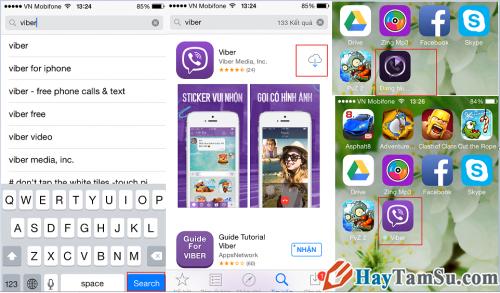 Từ App Store bạn có thể tải Viber cho iPhone, iPad
