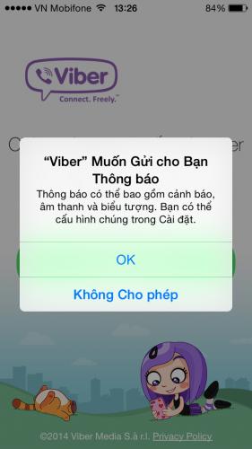 Làm thế nào để đăng ký sử dụng Viber trên iPhone