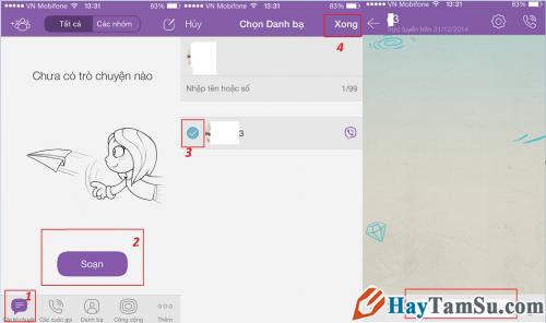 Cách Nhắn tin bằng Viber