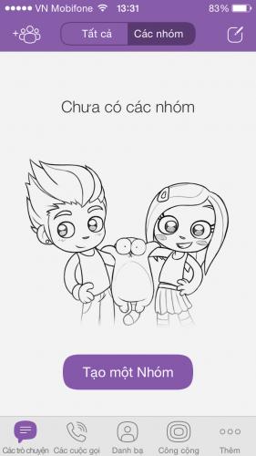 Bạn có thể Chat nhóm với Viber