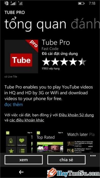tải youtube trên windows phone - hình 5