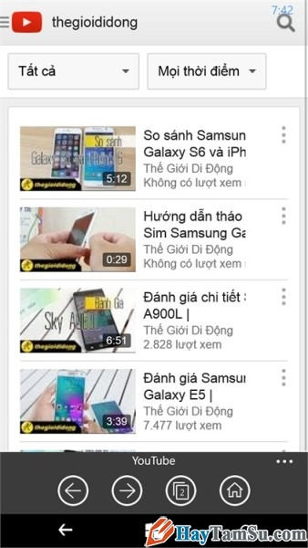 tải youtube trên windows phone - hình 10