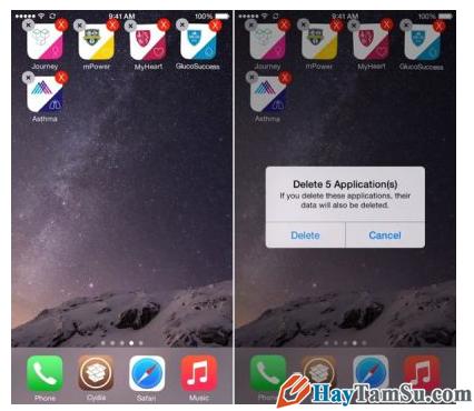 xóa hàng loạt ứng dụng trên iPhone