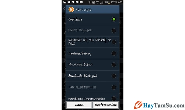 Hình 2 - Chi tiết cách thay font chữ cho điện thoại Android