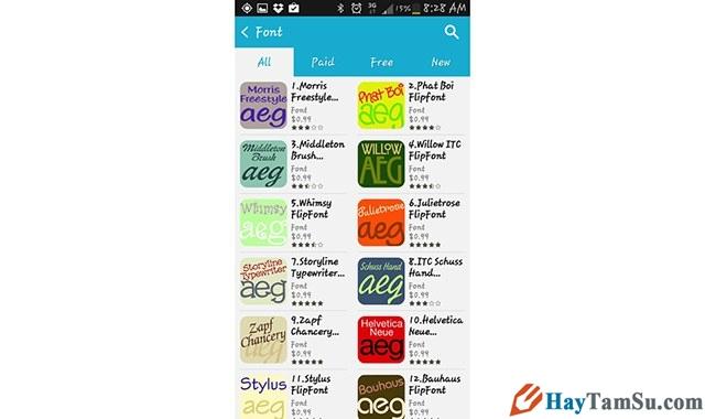 Hình 4 - Chi tiết cách thay font chữ cho điện thoại Android