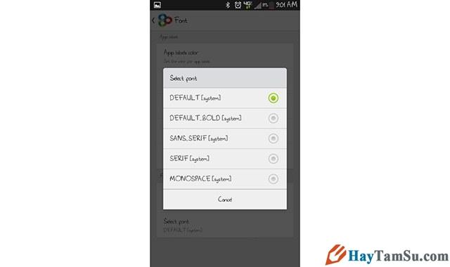 Hình 5 - Chi tiết cách thay font chữ cho điện thoại Android