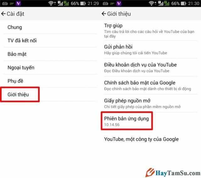 Hình 2 - Hướng dẫn xem Youtube Offline trên Android khi không có mạng