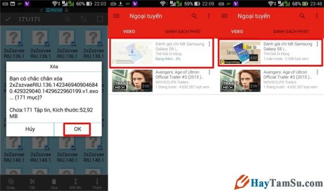 Hình 8 - Hướng dẫn xem Youtube Offline trên Android khi không có mạng