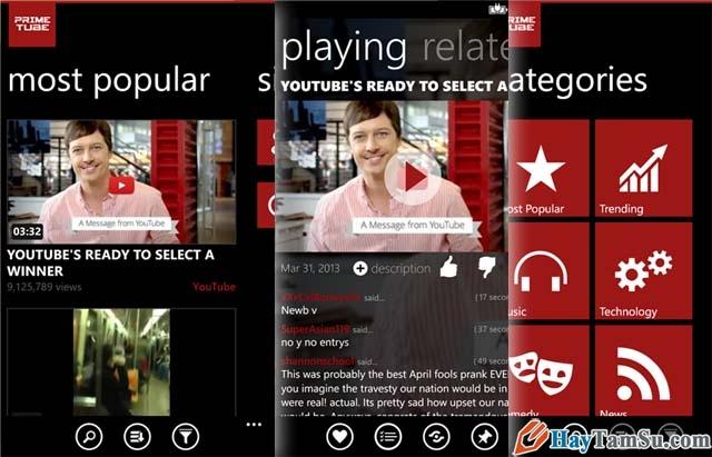 Hình 6 - Những ứng dụng xem Youtube tốt nhất cho Windows Phone