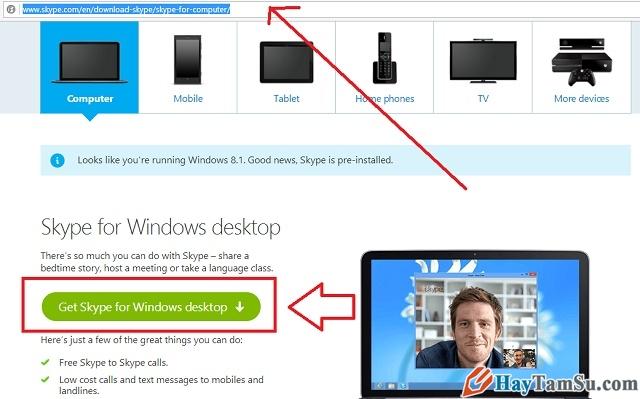 Hình 2 - Cách cài đặt Skype, Line, Viber trên máy tính
