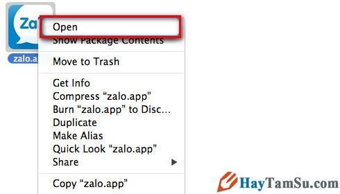 Hình 2 - Cách cài đặt Zalo trên Mac OS X và sử dụng