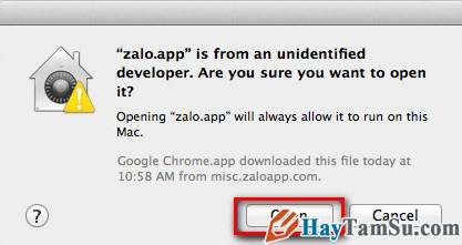 Hình 3 - Cách cài đặt Zalo trên Mac OS X và sử dụng