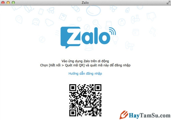 Hình 4 - Cách cài đặt Zalo trên Mac OS X và sử dụng