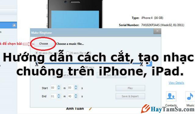 Hướng dẫn cách cắt, tạo nhạc chuông trên iPhone, iPad