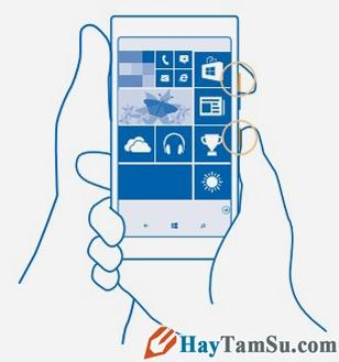 Hình 2 - Hướng dẫn cách chụp màn hình trên Windows Phone