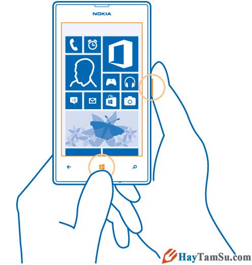 Hình 3 - Hướng dẫn cách chụp màn hình trên Windows Phone