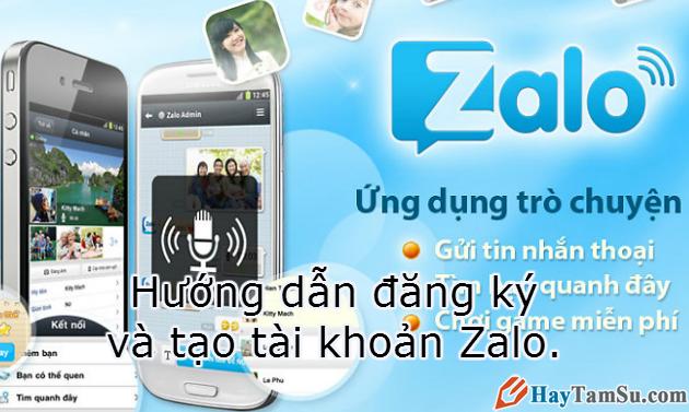 Hình 1 - Hướng dẫn đăng ký và tạo tài khoản Zalo
