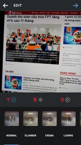 Hình 4 - Cách sử dụng phần mềm chụp và chia sẻ ảnh Instagram