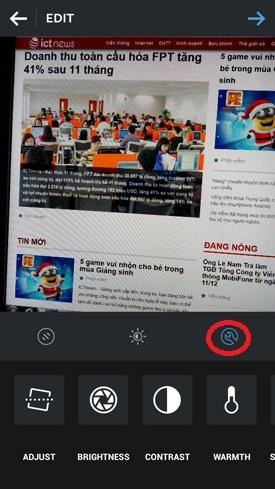 Hình 6 - Cách sử dụng phần mềm chụp và chia sẻ ảnh Instagram