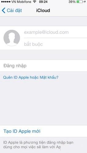 Hình 11 - Hướng dẫn thay đổi tài khoản iCloud trên iPhone, iPad