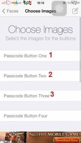 Hình 4 - Thay bàn phím số PassCode bằng hình ảnh trên iPhone, iPad