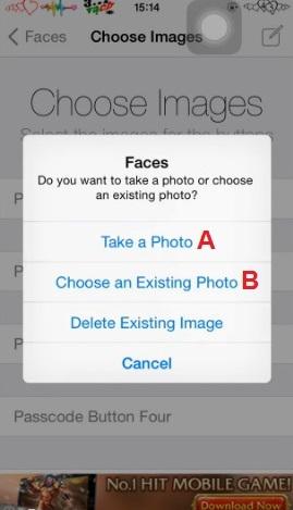 Hình 5 - Thay bàn phím số PassCode bằng hình ảnh trên iPhone, iPad