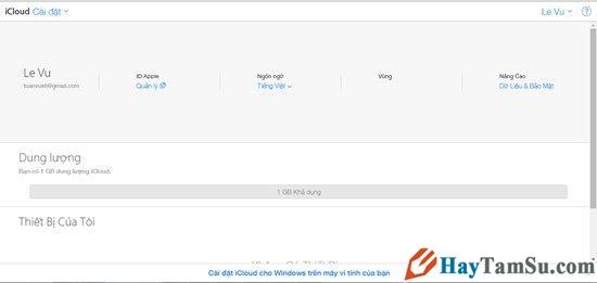 Hình 10 - Cách đăng nhập iCloud trên máy Windows, Mac và Web