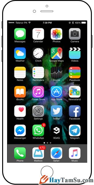 Hình 2 - Cách để khởi động lại iPhone, iPad khi bị treo
