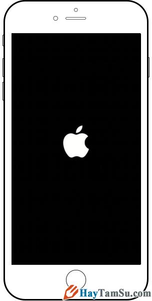 Hình 3 - Cách để khởi động lại iPhone, iPad khi bị treo