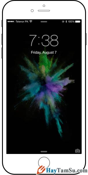 Hình 4 - Cách để khởi động lại iPhone, iPad khi bị treo