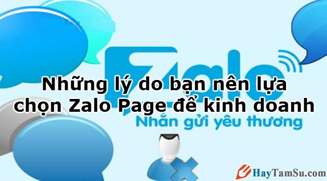 Những lý do bạn nên lựa chọn Zalo Page để kinh doanh