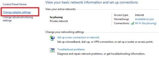 Hình 2 - Hướng dẫn sửa lỗi Wifi bị dấu chấm than trên máy tính