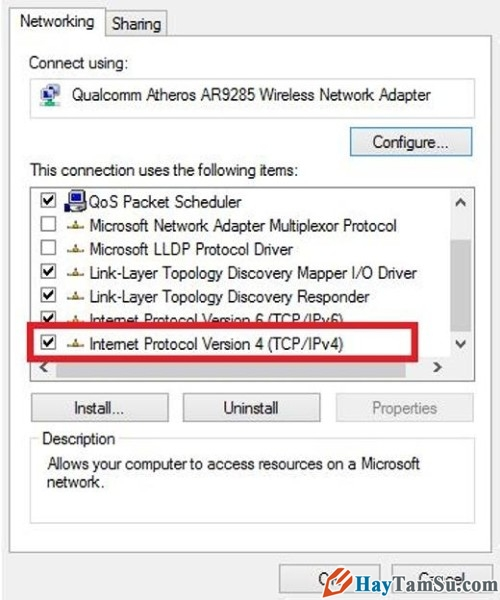 Hình 4 - Hướng dẫn sửa lỗi Wifi bị dấu chấm than trên máy tính