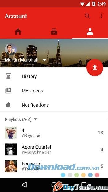 Hình 3 - Tải phần mềm xem Youtube cho điện thoại Android