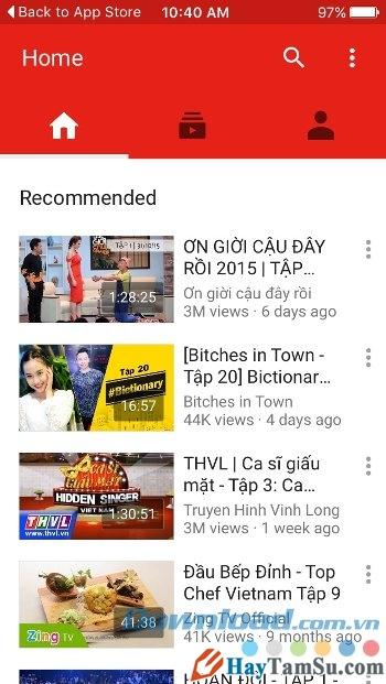 Hình 2 - Tải phần mềm Youtube cho điện thoại nền tảng iOS