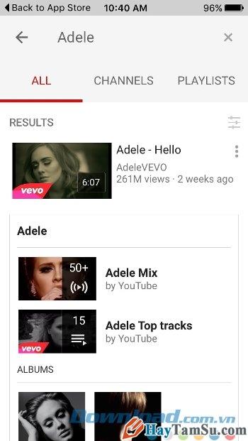 Hình 4 - Tải phần mềm Youtube cho điện thoại nền tảng iOS