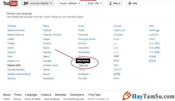 Cách thay đổi ngôn ngữ Youtube sang tiếng Việt cho laptop + Hình 3