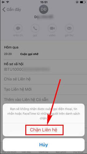 Cách chặn, block số điện thoại làm thường xuyên làm phiền trên iPhone, iPad + Hình 6