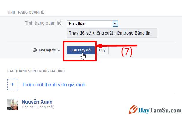 Hướng dẫn chuyển trạng thái đã Ly Thân trên mạng xã hội Facebook + Hình 7