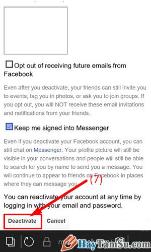 Cách xóa tài khoản Facebook vĩnh viễn trên thiết bị di động + Hình 7