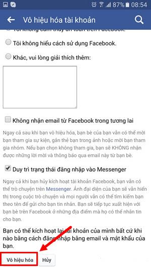 Cách xóa tài khoản Facebook vĩnh viễn trên thiết bị di động + Hình 17