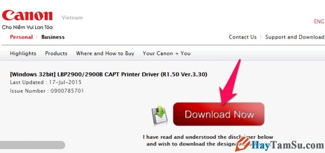 Hướng dẫn tải và cài đặt Driver máy in Canon LBP 2900 và 2900B cho Windows + Hình 2