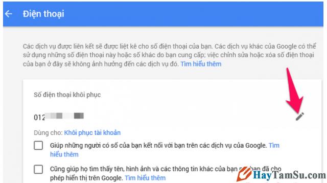 Hướng dẫn Thay đổi và Xóa số điện thoại khôi phục cho tài khoản Gmail + Hình 5