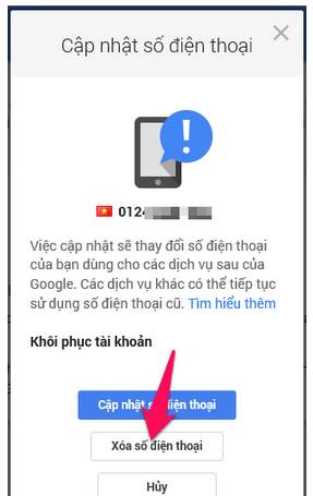 Hướng dẫn Thay đổi và Xóa số điện thoại khôi phục cho tài khoản Gmail + Hình 7