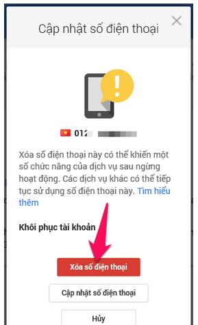 Hướng dẫn Thay đổi và Xóa số điện thoại khôi phục cho tài khoản Gmail + Hình 8