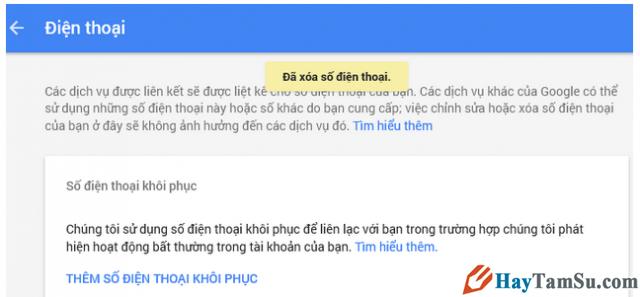 Hướng dẫn Thay đổi và Xóa số điện thoại khôi phục cho tài khoản Gmail + Hình 9