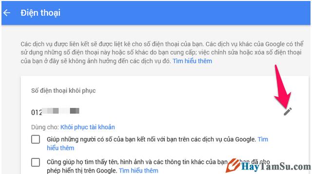 Hướng dẫn Thay đổi và Xóa số điện thoại khôi phục cho tài khoản Gmail + Hình 10