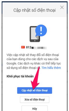Hướng dẫn Thay đổi và Xóa số điện thoại khôi phục cho tài khoản Gmail + Hình 12