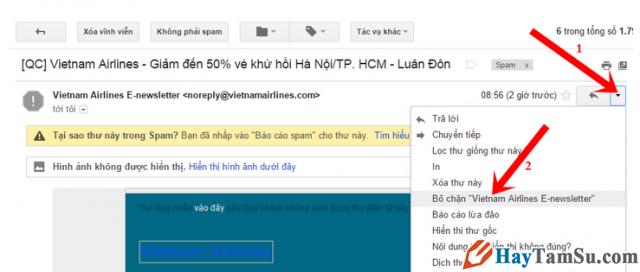 Cách Chặn/Hủy chặn email nếu bạn không muốn nhận thư trên Gmail + Hình 4
