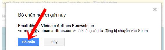 Cách Chặn/Hủy chặn email nếu bạn không muốn nhận thư trên Gmail + Hình 5